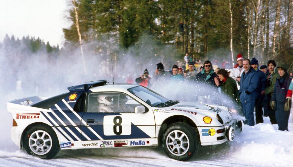 <b>DEBUT</b>: Svenske Kalle Grundel kjørte RS200 i rallybilens debut i Rally Sverige, og senere også i Rally Acropolis.