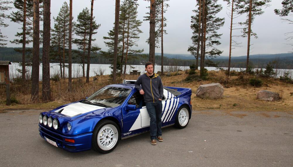 <b>KEN BLOCK:</b> Salgssjef Thomas Kristiansen hos Grua Auto kjøpte og rehabiliterte en RS200, før han solgte den til gymkhana-legenden Ken Block.
