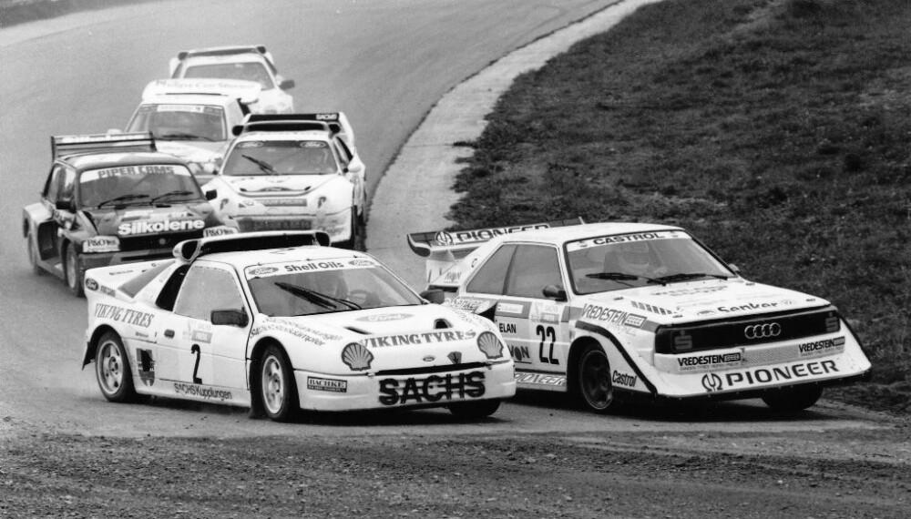 <b>RALLYCROSS</b>: Ford RS200 Evolution endte opp i rallycross, med Martin Schanche som den mest eksponerte føreren.