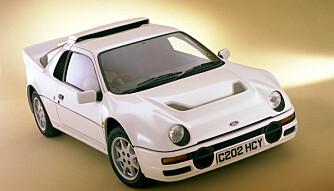1984: Ford RS200 ble vist frem for første gang i 1984.