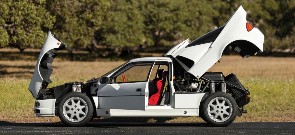 HØY VERDI: En Ford RS200 kan være verdt millioner.