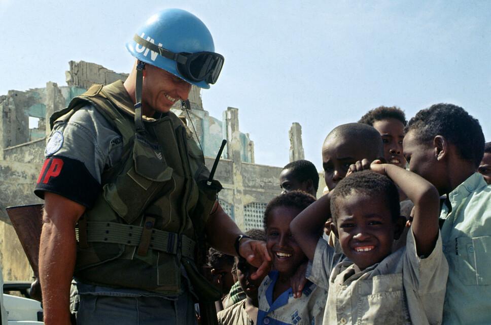 <b>NORSKE SOLDATER: </b>De første fredsbevarende FN-styrkene kom i 1992. Der deltok flere norske soldater, som Steinar Reisæter Andersen i