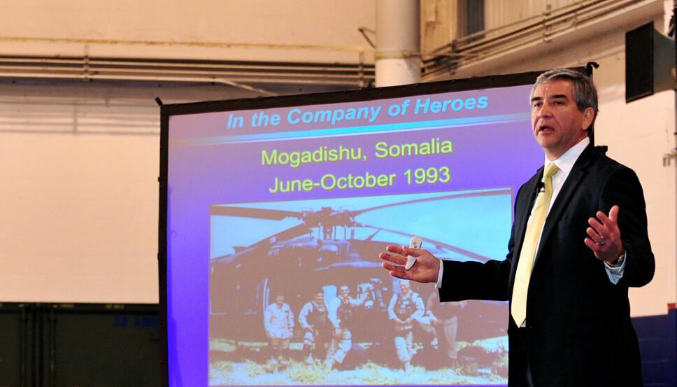 <b>TERAPI</b>: Durant har holdt foredrag og skrevet bok om hendelsene i Mogadishu. Han mener det har fungert som terapi.