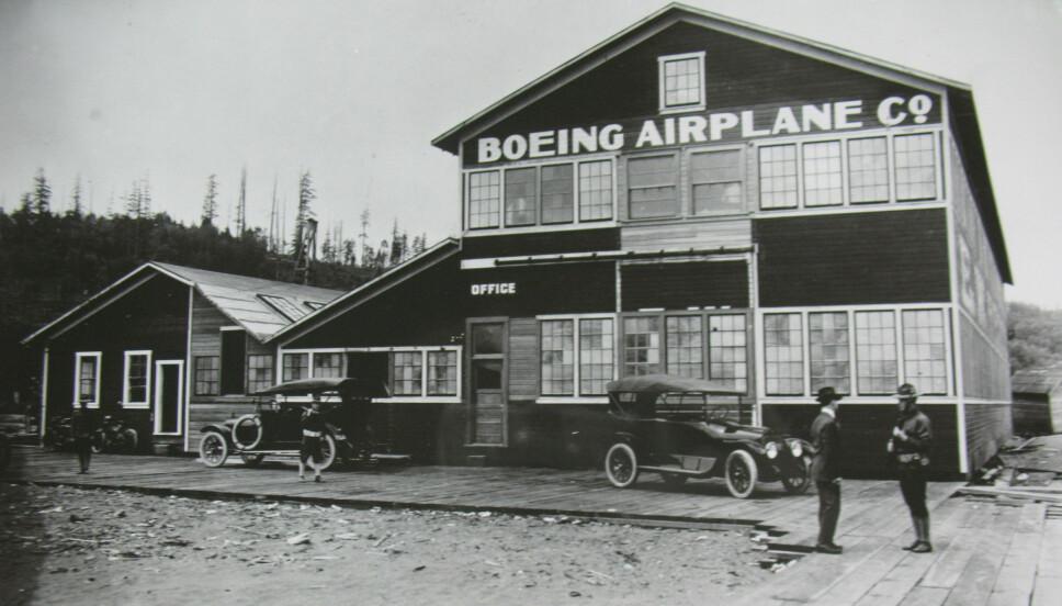 STARTEN: Det første bygget til Boeing Airplane Company.
