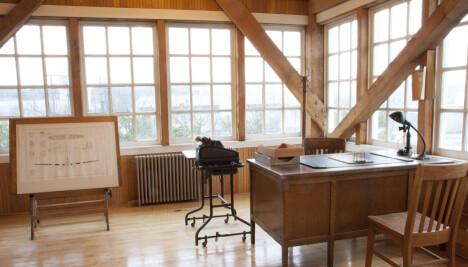KONTORET:Claire Egtvedts kontor i det opprinnelige Boeing-bygget står slik det var, hos Museum of Flight i Seattle.