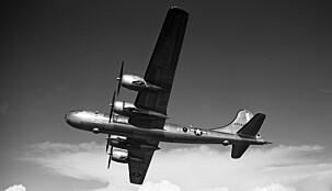 ATOMBOMBEFLY: B-29 Superfortress var også signert Boeing, og Egtvedt ledet arbeidet med å utvikle flytypen som slapp atombombene over Hiroshima og Nagasaki.