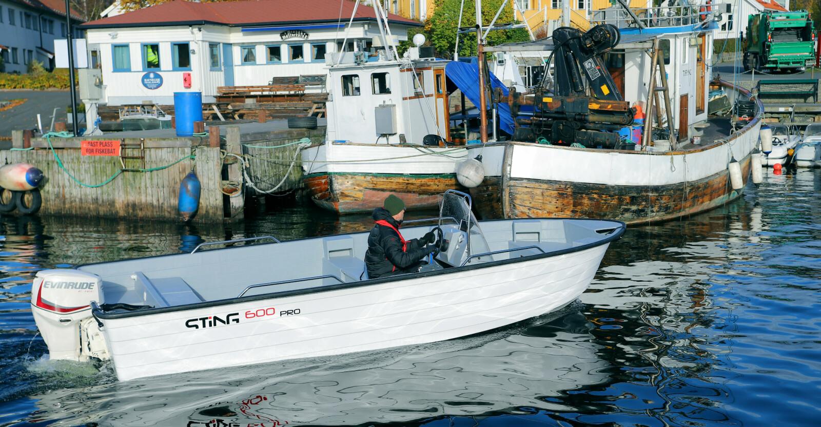 I FISKEHAVNA: Her passer Sting 600 Pro perfekt inn, enten det er til hobby- eller yrkesbruk.