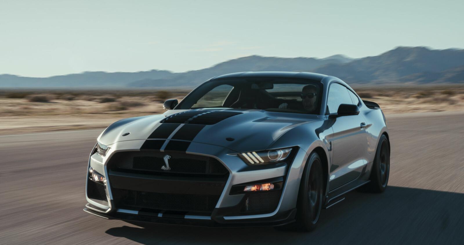 GLUPSK: Grillen og luftinntakene er glupskere enn noensinne på en Mustang.