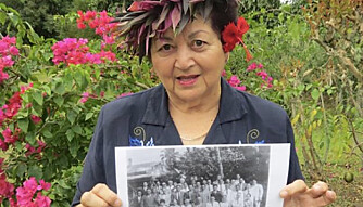 HER ER ANNE: Anne Jonassen ble i 2015 intervjuet av avisen Cook Islands News, i forbindelse med at øyene ble delvis selvstendige i 1965. Hun var da tett på begivenhetene.
