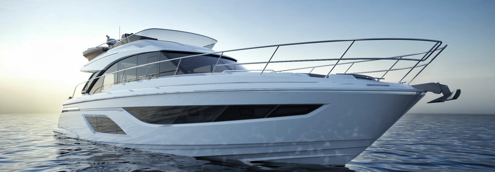 <b>BAVARIA R55:</b> Toppmodellen i motorbåt-serien var knapt lansert før verftet ble satt under administrasjon. Nå er produksjonen flyttet til egne lokaler og den første kontrakten for Norge undertegnet.