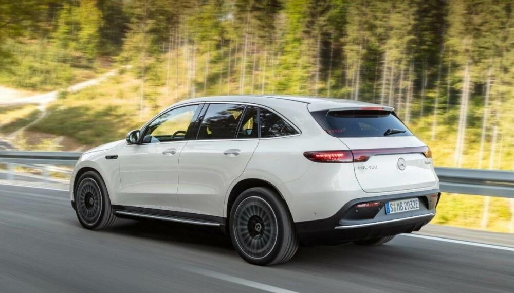 <b>LEVERING I SOMMER: </b>EQC følger i hjulsporene til Tesla Model X, Jaguar I-Pace og Audi e-tron når den kommer til Norge i sommer.
