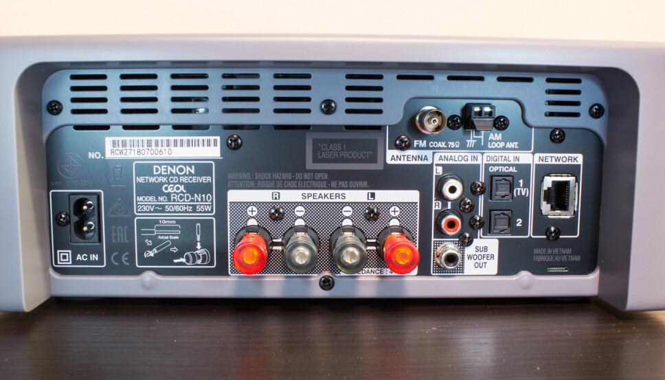 <b>MANGE MULIGHETER:</b> Denon Ceol støtter mange kilder, alt fra TV-en din til lokale harddisker til CD og moderne strømmetjenester.