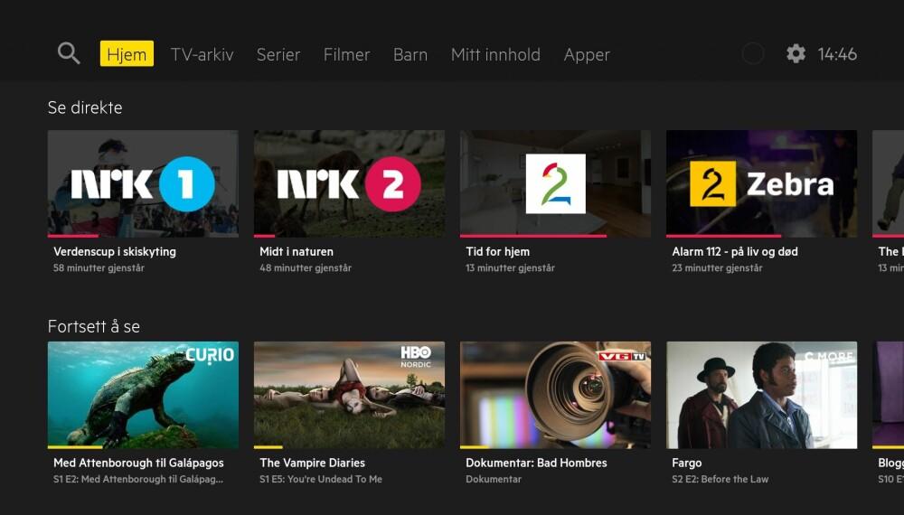 """<b>APPER: </b>Slik ser den nye Hjem-skjermen ut på nye Get. Legg merke til """"Apper""""-fanen helt til høyre. Her kan du laste ned apper fra Google Play."""