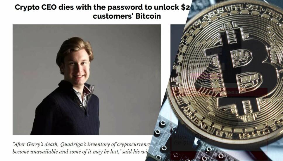 MANGLER PASSORD: Etter kryptovalutabørsens sjef døde, mangler selskapet passordet som gir til gang til kryptoverdier tilvarende 1,3 milliarder kroner.