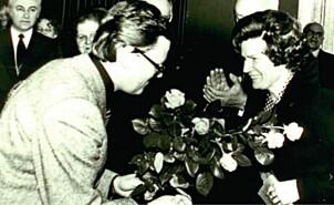 <b>Prominente gjester</b>: Valentina Teresjkova, den første kvinnen i verdensrommet, ønskes velkommen til hotellet.