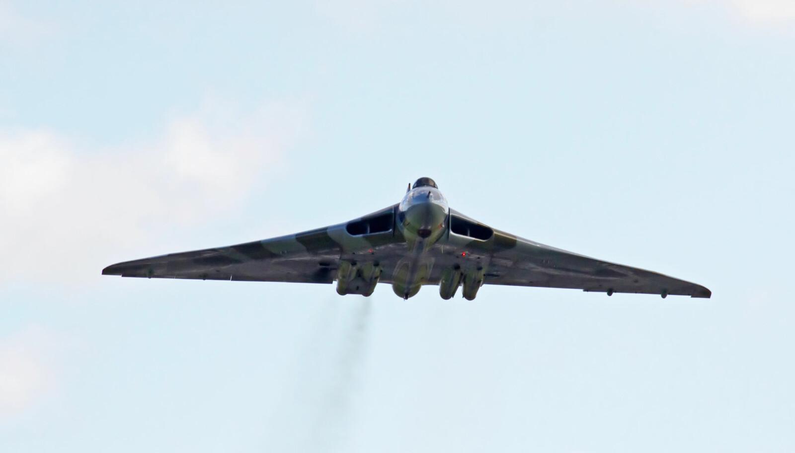 <b>DELTAVINGE:</b> Det ble pensjonert i mars 1984 - for 35 år siden, men Avro Vulcan gjorde en sjelden gjesteopptreden i 2014.