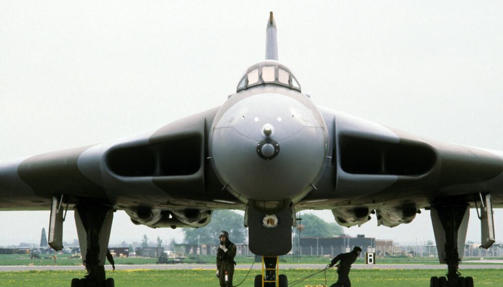 PENSJONERT: 30 år etter at det fløy for første gang ble det bestemt at Avro Vulcan skulle i krigen.