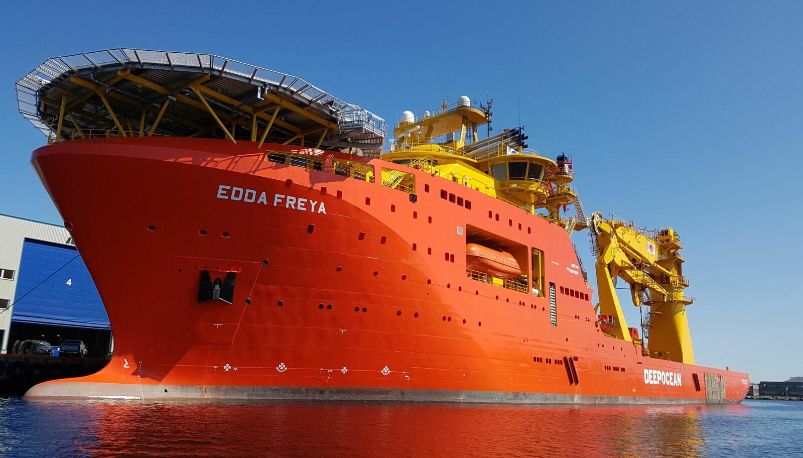 <b>TUNGVEKTER:</b> Edda Freya har en dødvekt på 11 549 tonn.