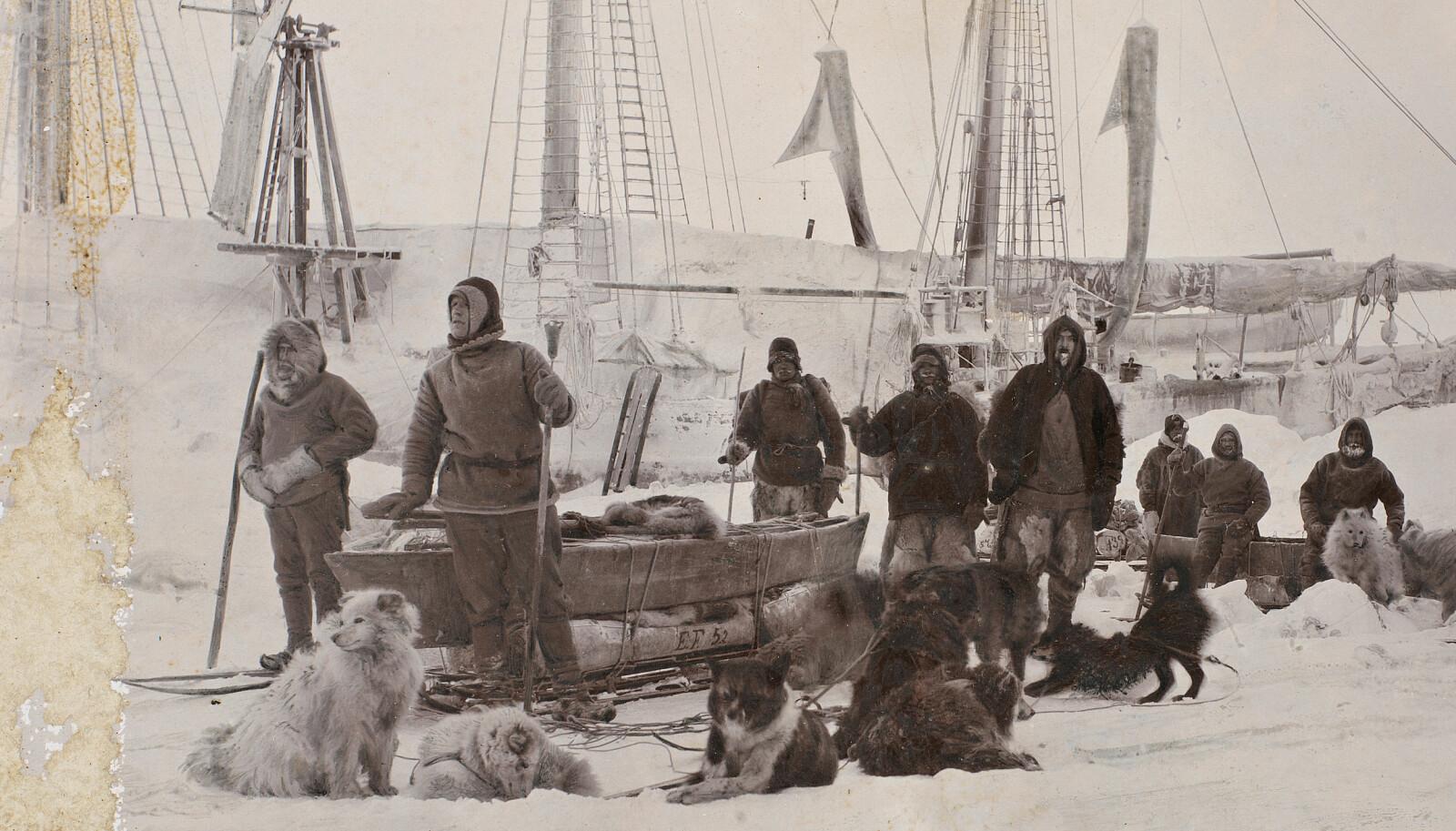<b>KRANGLET MED NANSEN: </b>Kaptein Otto Sverdrup (tv.) var polarhelten som la seg ut med Fridtjof Nansen (nr. 2 f.v.) og svært mange andre før han døde - i skyggen av sine kolleger.
