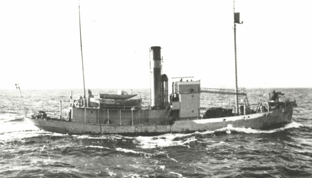 LETTVEKTER: Denne skøyta var det som møtte den tyska armadaen i Oslofjorden.