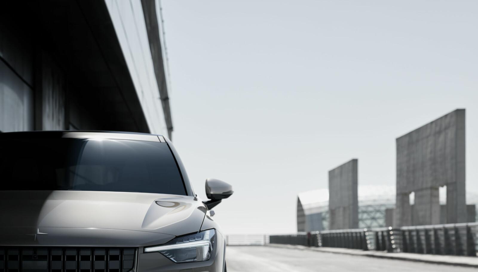 <b>POLESTAR 2:</b> Dette er bilen som blir Volvos første helelektriske bil.