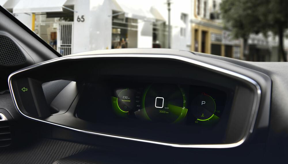 I-COCKPIT: Peugeot e-208 får den mest avanserte utgaven av det digitale dashbordet.