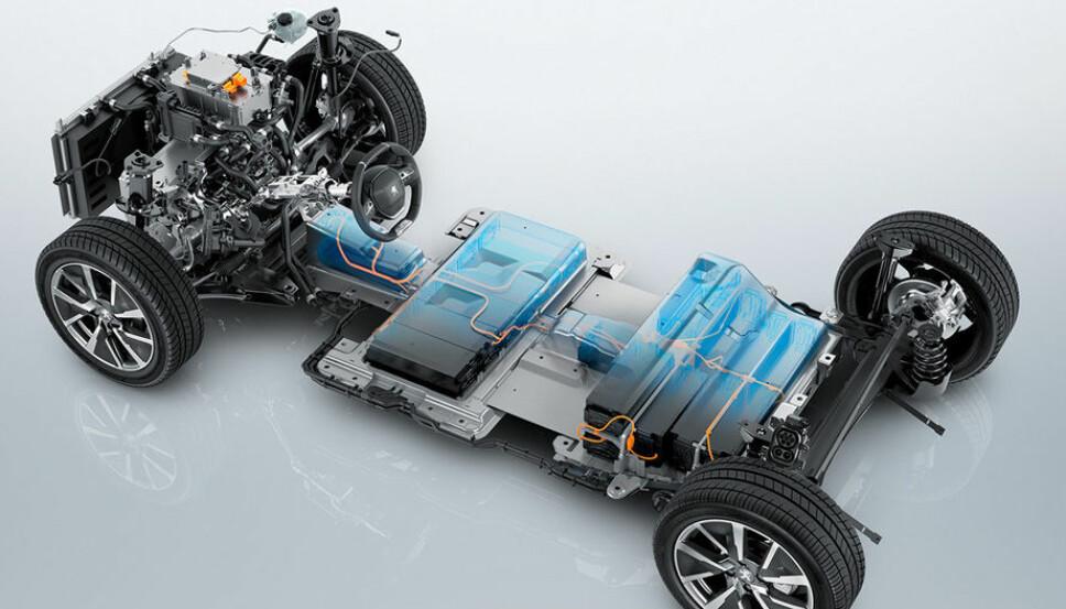 <b>GODT PAKKET:</b> Batteri på 50 kWh og drivverk med 136 hk skal pakkes godt i en småbil.