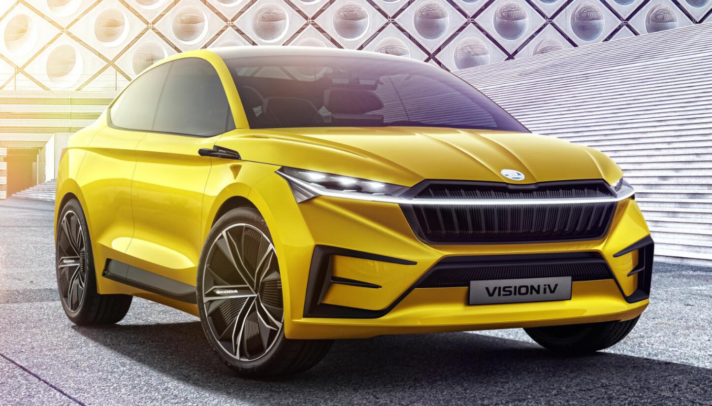 REKKEVIDDE: Skoda-konseptet drives av to elektriske motorer – én på hver av akslene, noe som gir bilen firehjulsdrift. Bilen skal ha en rekkevidde på 500 kilometer, ifølge WLTP-standarden.