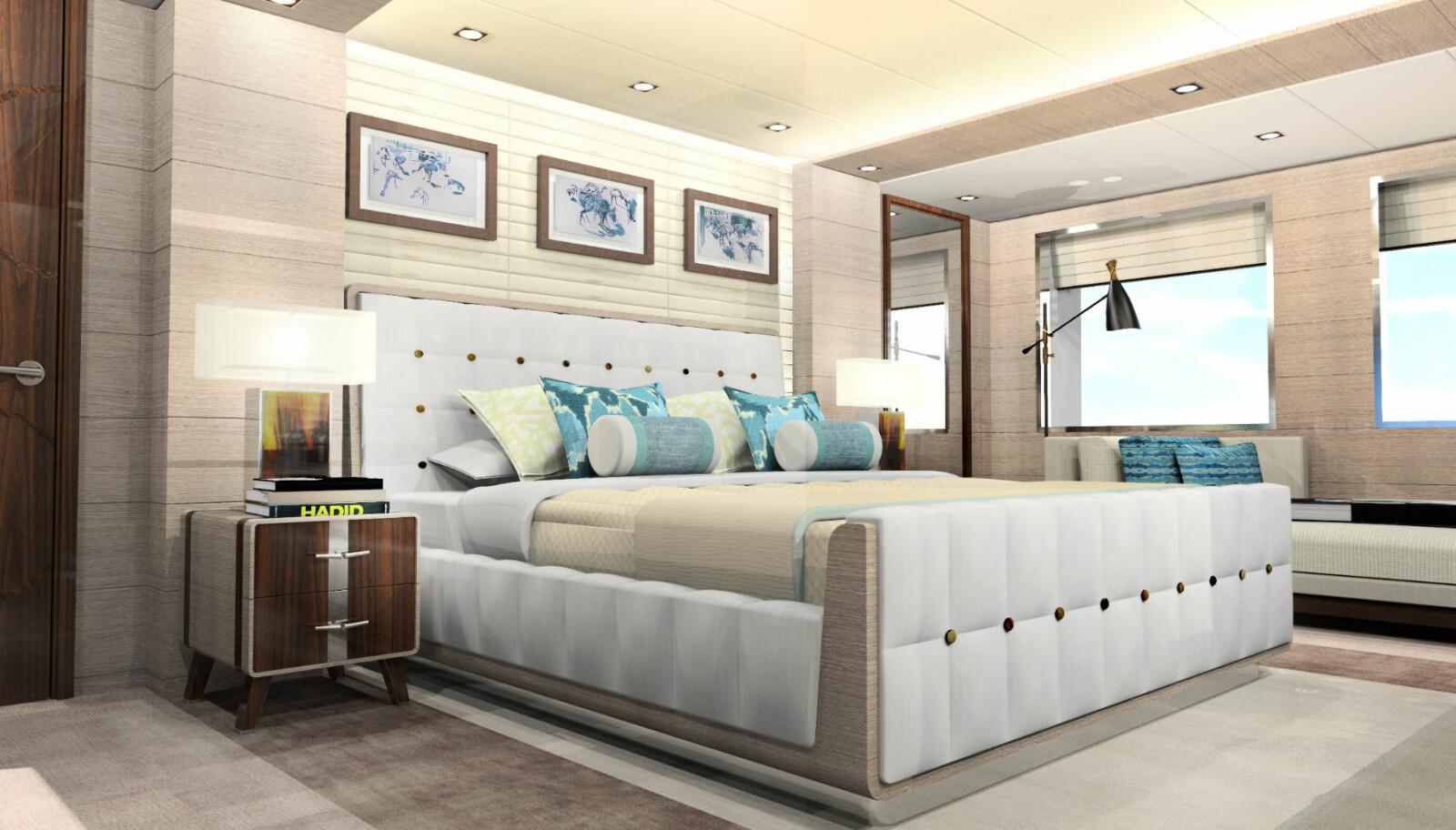 <b>BEDRE ENN HJEMME:</b> Selv i en beskjeden 50-meters yacht er soverommet bedre enn i en eksklusiv leilighet.