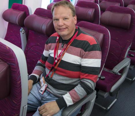 <b>FLYNERD:</b> Hans Olav Nyborg er redaktør for nettstedet hangar.no.