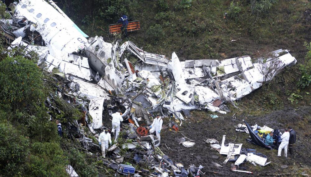 <b>FATALT FOR FOTBALLAG:</b>  I november i fjor skal trolig flyet med det brasilianske fotballaget Chapecoense om bord ha gått tomt for bensin og styrtet  ved byen Medellín.