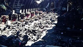 <b>KUN TRE DØDE:</b> Slik så et Asiana-fly som krasjlandet i San Francisco ut etter en langtur fra Seoul, sommeren 2013. Utrolig nok døde kun tre av passasjerene.