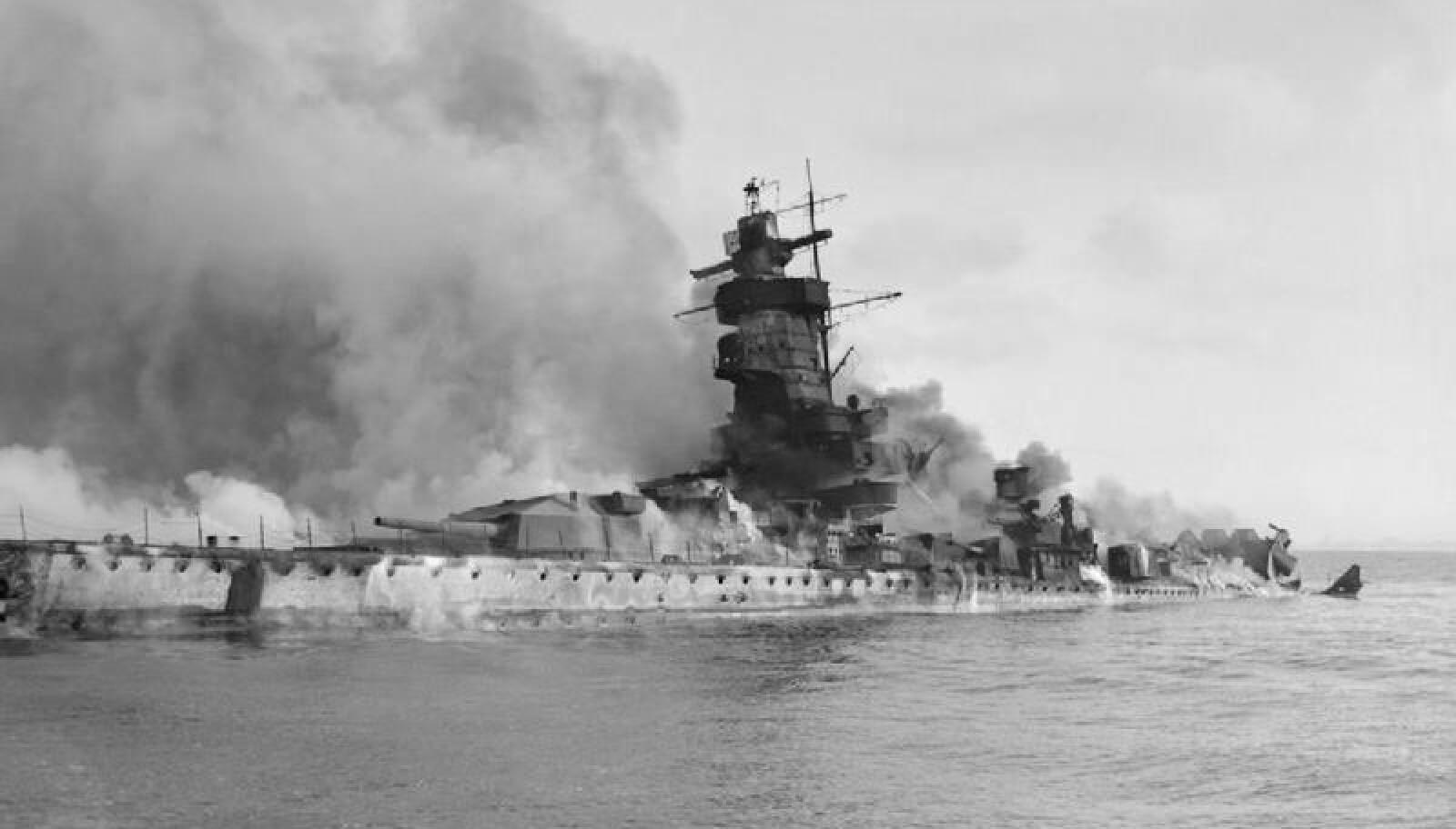 <b>SENKET SKIPET:</b> Kapteinen på Admiral Graf Spee valgte selv å senke båten utenfor Uruguay.
