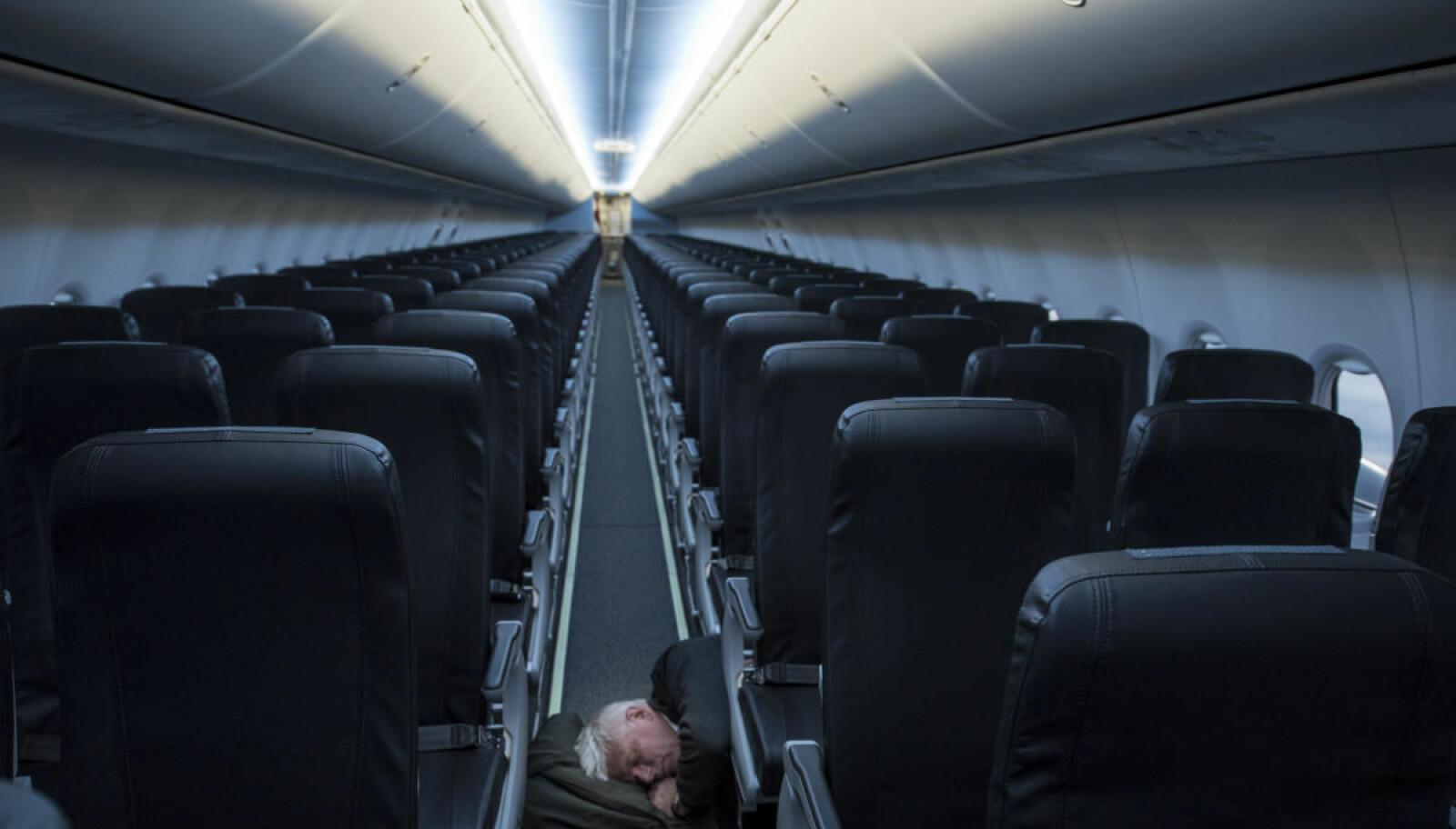 <b>GOD PLASS:</b> «Single Class» med 189 seter og god soveplass helt for seg selv slår selv 1. klasse.