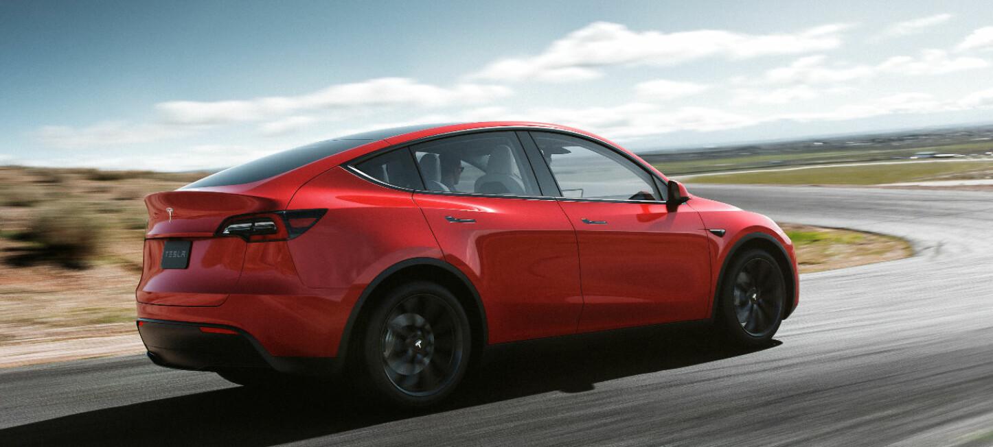 <b>TESLA MODEL Y: </b>Dette kan bli en ny storselger fra Tesla. Model Y er bygd på basis av Model 3.