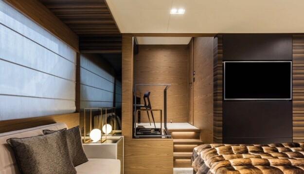 <b>BEDRE ENN HJEMME:</b> Dyre yachter som Ferretti 670 har innredning i stil med det du finner i rene luksusleiligheter.