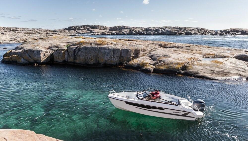 <b>POPULÆR BÅTTYPE:</b> Bowrider-modeller på rundt 6 meter er bestselgere i Norge. Yamarin 63 BR er helt ny for 2019, pris fra ca. 400 000 kroner