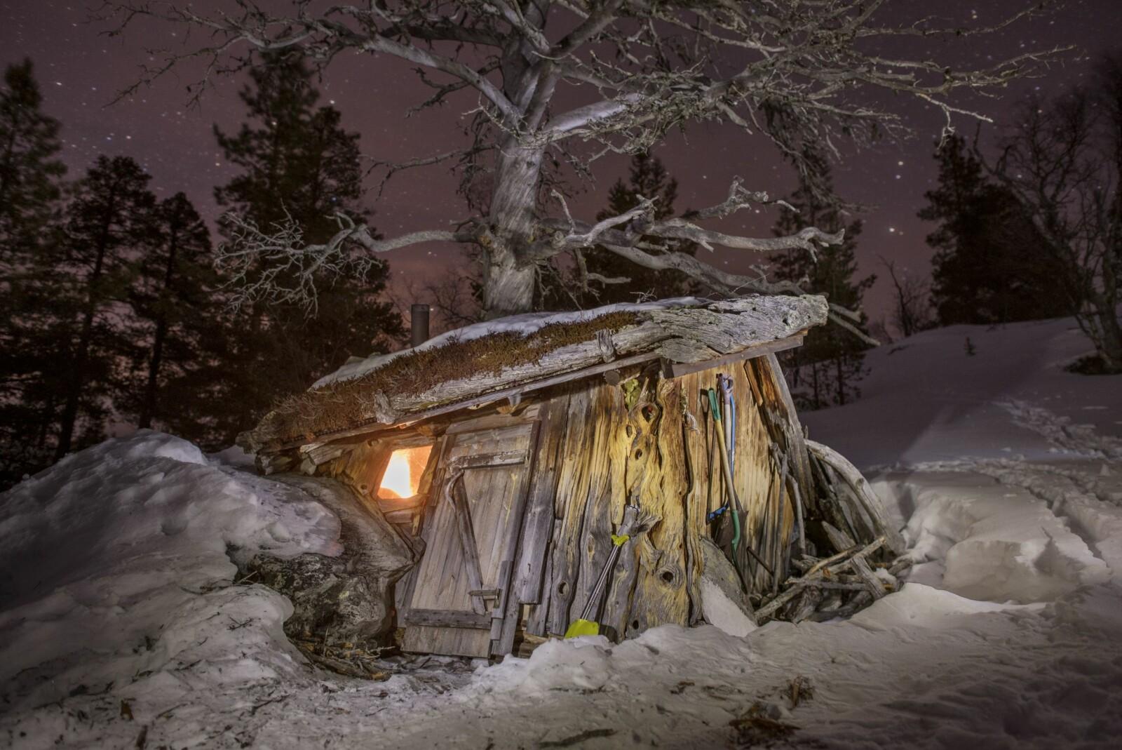 <b>STÅR FORTSATT:</b> Hytte bygd i Midt-Norge i 1969. Står fortsatt.