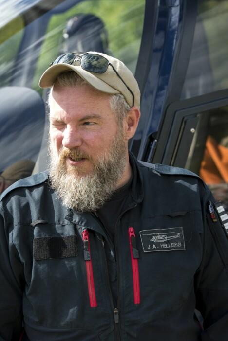 <b>VETERAN:</b> John-Arne Hellesø har vært med på å slokke det meste av større skogbranner i Norge siden 2005.
