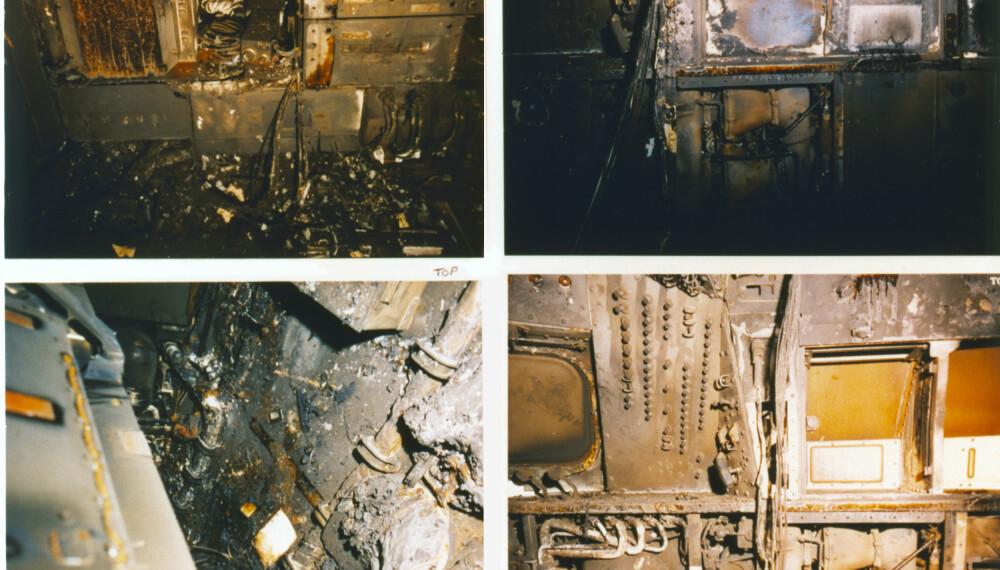 <b>BRANN:</b> Bildene viser de skadene i forskjellige avdelinger. Foto: Getty Images