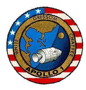 <b>EMBLEM: </b>Merket for det som skulle vært NASAs første bemannede ferd med en Apollo kommando-/serviceseksjon i jordbane.