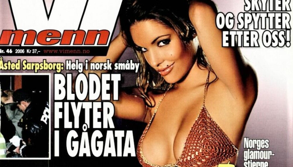 <b>PROGRAMLEDER OG FORSIDEMODELL:</b> Triana Iglesias fra Vi Menn-cover i 2006.