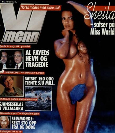 <b>SATSET:</b> Sheila ble omtalt som en «Norsk modell med store mål», noe som helt sikkert ikke hadde en dobbeltbetydning.