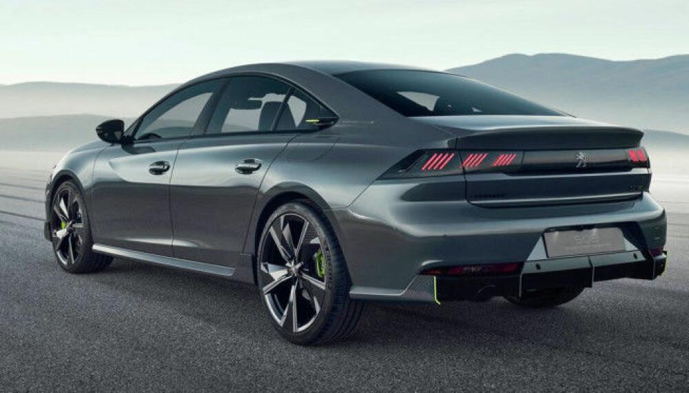 <b>508:</b> Nye Peugeot Sport Engineered 508 concept har lekre linjer og krefer i overflod.