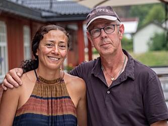 <b>CAMPINGVERTER:</b> Theo Ernst Slijkhuis og kona Indra Horsford.