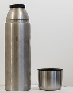 KRAFTIG: Ikea Volym er en tung og kraftig termos, men er den som holder best på varmen.