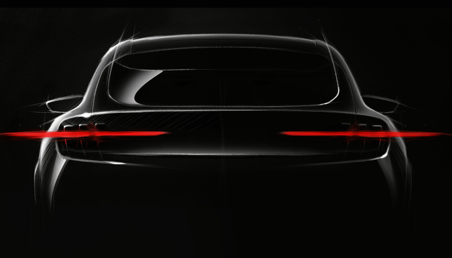 <b>MUSTANG:</b> Den elektriske SUV-en skal være Mustang-inspirert.