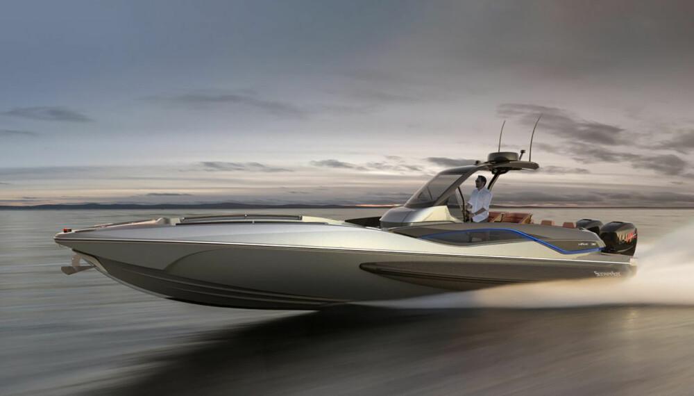 <b>SUNSEEKER:</b> Sunseeker har lansert en oppsiktsvekkende fartsbåt. Med god hjelp av racinglegende Fabio Buzzi.