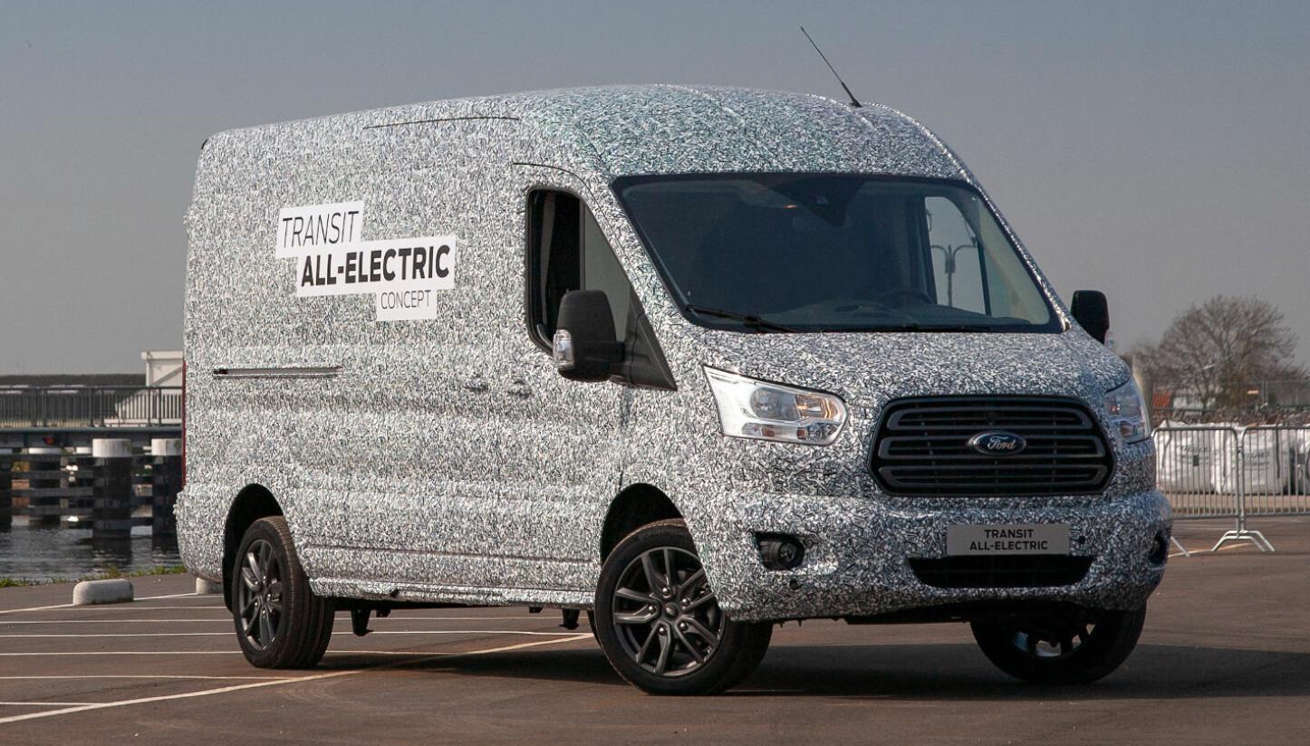ELEKTRISK TRANSIT: En helt elektrisk Ford Transit settes i prdouksjon i 2021.