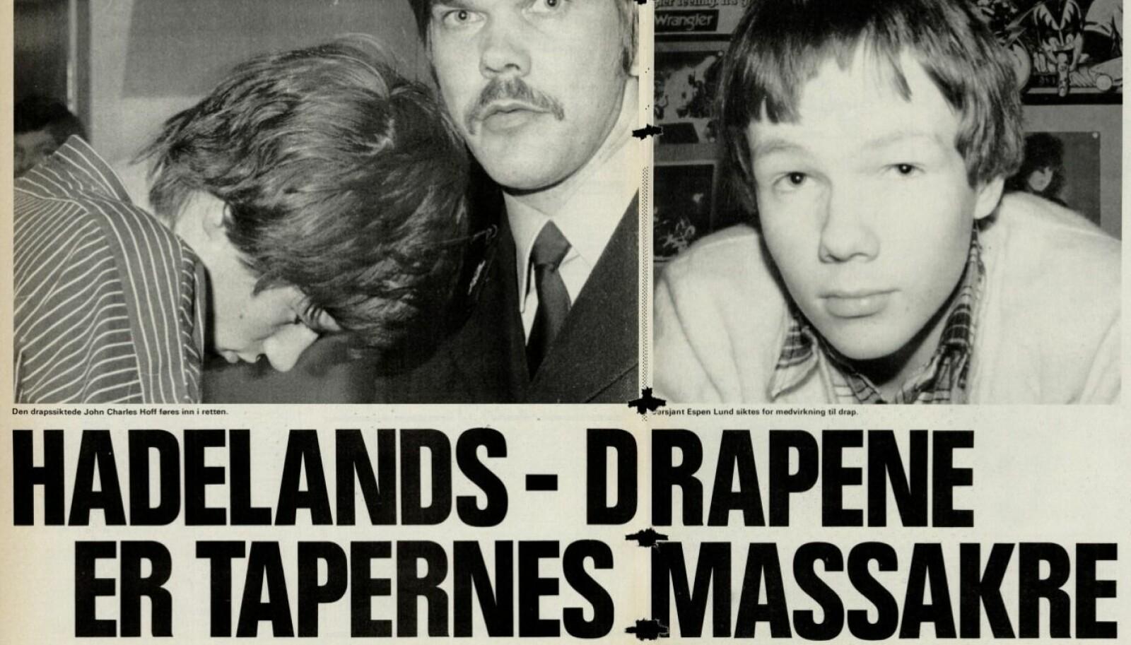 <b>TAPERE:</b> I artikkelen fra Vi Menn i 1981 blir drapene omtalt som «Tapernes massakre». Faksimile: Vi Menn